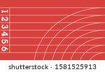 running track field top view ... | Shutterstock .eps vector #1581525913