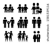 family icon isolated sign... | Shutterstock .eps vector #1581539116