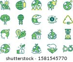 ecology icon set. included... | Shutterstock .eps vector #1581545770