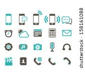 mobile phone icon   color | Shutterstock .eps vector #158161088