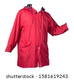 Female Red Coat With A Hood...