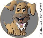 dog vector drawing new version... | Shutterstock .eps vector #1581666919