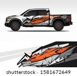 car wrap decal design vector ... | Shutterstock .eps vector #1581672649