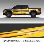 car wrap decal design vector ... | Shutterstock .eps vector #1581672703