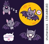 set of cute bat vector designs   Shutterstock .eps vector #1581688183