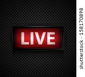 live message  studio sign  | Shutterstock .eps vector #158170898