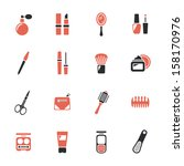 beauty and makeup icons | Shutterstock .eps vector #158170976