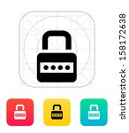 lock with password icon. vector ...