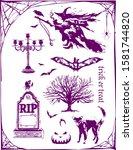 design halloween trick oe treat ... | Shutterstock .eps vector #1581744820