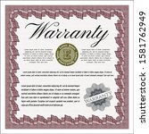 object ored warranty template. ...   Shutterstock .eps vector #1581762949