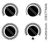 black cooking stove heat knob... | Shutterstock .eps vector #1581774646
