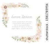 vector watercolor floral frame...   Shutterstock .eps vector #1581785956