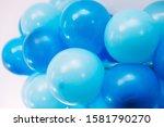 closeup of blue balloons on a...   Shutterstock . vector #1581790270