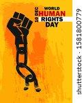 international human rights... | Shutterstock .eps vector #1581800779