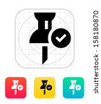 mapping check pin icon. vector...