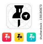 navigation pin icon. vector...