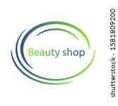 abstract vector template. green ... | Shutterstock .eps vector #1581809200