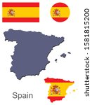 spain silhouette and flag... | Shutterstock .eps vector #1581815200