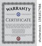 object ogrey formal warranty...   Shutterstock .eps vector #1581817486
