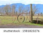 An Iron  Homemade Farm Gate...