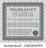 grey retro warranty template....   Shutterstock .eps vector #1581850993