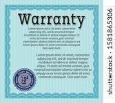 light blue formal warranty...   Shutterstock .eps vector #1581865306
