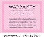 pink retro warranty template....   Shutterstock .eps vector #1581874423