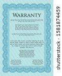 light blue retro warranty...   Shutterstock .eps vector #1581874459