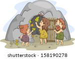 illustration of a caveman...