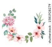 frame border background. floral ... | Shutterstock . vector #1581928279