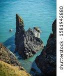 Sharp crags and rocks at Port Patrick Scotland