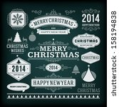 christmas decoration vector... | Shutterstock .eps vector #158194838