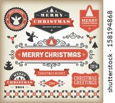 christmas decoration vector... | Shutterstock .eps vector #158194868