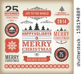 christmas decoration vector... | Shutterstock .eps vector #158194889