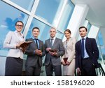 group of business partners... | Shutterstock . vector #158196020
