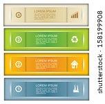 website header or banner design ... | Shutterstock .eps vector #158199908