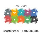 autumn cartoon template with...