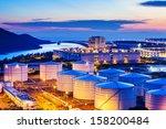 oil tanks for cargo service... | Shutterstock . vector #158200484
