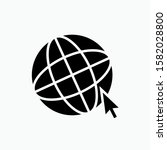 internet access icon. globe  ...