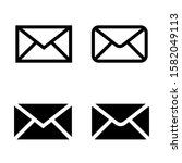 mail icon. online postal sign.... | Shutterstock .eps vector #1582049113