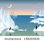 northern landscape with...