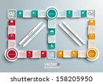 connected rectangles on the... | Shutterstock .eps vector #158205950