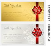 gold and silver gift voucher   Shutterstock .eps vector #158210198
