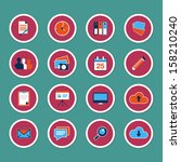 set of web icons in modern flat ...