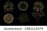 firework silhouette in... | Shutterstock .eps vector #1582112479