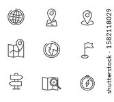 set of map and location icon...   Shutterstock .eps vector #1582118029