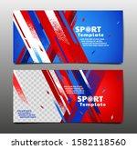 sport layout   template design  ... | Shutterstock .eps vector #1582118560
