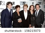 """Small photo of NEW YORK- OCT 8: Actor Robert Redford (C) and cast attend the premiere of """"All Is Lost"""" at the New York Film Festival at Alice Tully Hall at Lincoln Center on October 8, 2013 in New York City."""