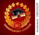 congratulations graduates class ... | Shutterstock .eps vector #1582151329