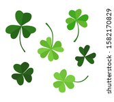 A Set Of Clover Leaves With...